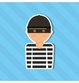 thief character design vector image