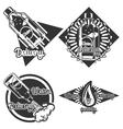 Vintage Water delivery emblems vector image