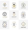 Lion diamond emblems vector image
