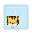 colorful greeting card with picture tiger animal vector image
