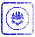 development helmet framed textured icon vector image
