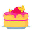 cake for princess icon cartoon style vector image