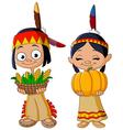 american indian children vector image vector image