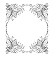 Frame with hand-drawing decorative ornaments vector image