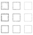 Square Shape Set vector image