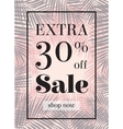 Palm leaf Extra sale up to 30 per cent off Web vector image vector image