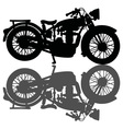 Classic motorcycle and a shadow vector image
