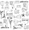 Doodle of music stock element set vector image