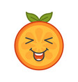 emoji - enjoy orange with happy smile isolated vector image