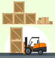 flat flat loading boxes vector image