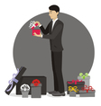 Present for man vector image