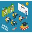 School Education Isometric Concept vector image