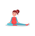 young pregnant woman character doing stretching vector image