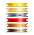 Show colorful ribbon promotional products design vector image