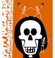 Halloween greetings Skulll Background vector image