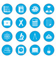 education icon blue vector image