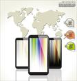 Modern techonology design background vector image vector image