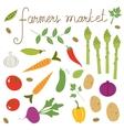 Farmers market set vector image vector image