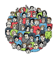 people group color version vector image vector image