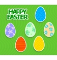 Easter background with eggs sticker vector image