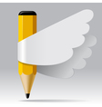 Pencil with wings vector image vector image