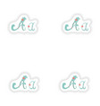 Stiker Abstract letter A logo icon in Blue vector image