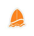 icon sticker realistic design on paper sailing vector image