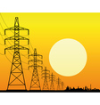 power line vector image vector image