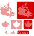Canada balls vector image