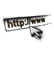 cartoon image of website icon go to web pictogram vector image