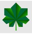 chestnut origami green leaf vector image
