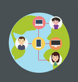 concept of connecting people with technology vector image