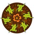 Frog Circle vector image