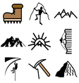 Logo icons mount vector image