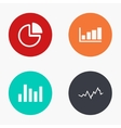 modern graph colorful icons set vector image