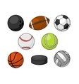 Sport balls isolated icons vector image
