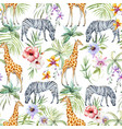 tropical wildlife pattern vector image