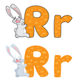 letter R rabbit vector image vector image