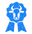 cow award seal icon grunge watermark vector image