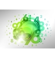 numbers green vector image vector image