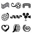 logo icons movie vector image