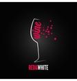 wine glass bubbles splash menu background vector image vector image