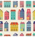 Colorful city pattern vector image vector image