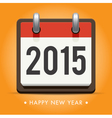 calendar 2015 happy new year card vector image