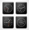 Modern digital watch dials template vector image vector image