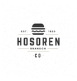 Fast Food Design Element in Vintage Style for vector image vector image