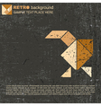 Tangram bird vector image vector image