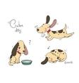 Funny cartoon dogs vector image