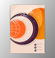 A4 Abstract Background modern circle design vector image