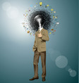 business man shows well done vector image